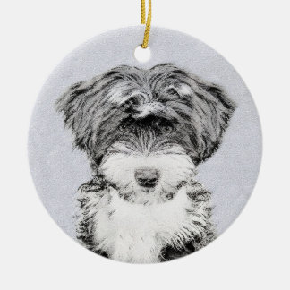 Tibetanisches Terrier Keramik Ornament