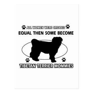 Tibetanisches Terrier-Mama-Entwurf Postkarte