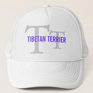 Tibetanisches Terrier-Zucht-Monogramm Truckerkappe