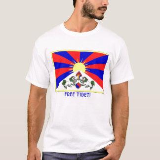Tibetflagge, FREIES TIBET! T-Shirt
