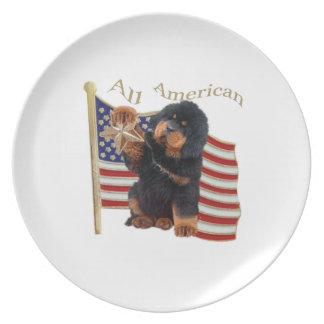 Tibetian Mastiff ganz amerikanisch Teller