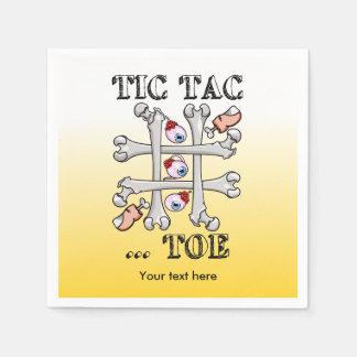 Tic Tac Zehe-Augäpfel, Zehen und Knochen Papierserviette