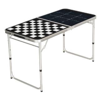 Tic Tac Zehe und Schachbrett-Spiel-Brett-Tabelle Beer Pong Tisch