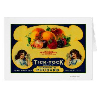Ticken Tock Rhabarber-Aufkleber Karte