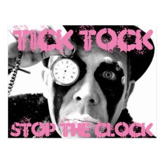 Ticken Tock, stoppt die Uhr Postkarte