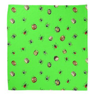 Ticken und Lyme-Borreliose-Bewusstseinsbänder Halstuch