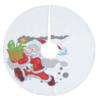 Tickender Zeit-Sankt-Baum-Rock Polyester Weihnachtsbaumdecke
