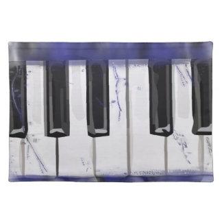 Tickle das Elfenbein-Klavier Stofftischset