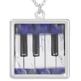 Tickle das Elfenbein-Klavier Versilberte Kette