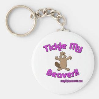 Tickle meinen Biber Schlüsselanhänger