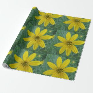Tickseed Coreopsis-Gelb-Garten-Blume Geschenkpapier