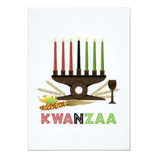 Tief in der Traditions-Kwanzaa-Feiertags-Party Karte