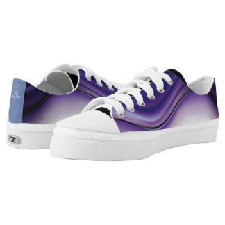 Tief verwurzelte abstrakte Blues Niedrig-geschnittene Sneaker