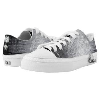 Tief verwurzelte abstrakte Grau Niedrig-geschnittene Sneaker