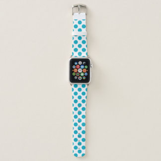 Tiefe Aqua-Tupfen Apple Watch Armband
