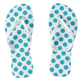 Tiefe Aqua-Tupfen Flip Flops