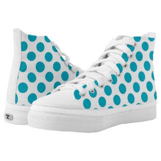 Tiefe Aqua-Tupfen Hoch-geschnittene Sneaker