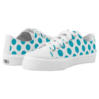 Tiefe Aqua-Tupfen Niedrig-geschnittene Sneaker