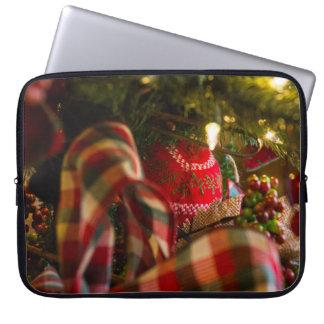 Tiefe eines Weihnachtsbaums Laptopschutzhülle