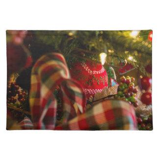 Tiefe eines Weihnachtsbaums Tischset