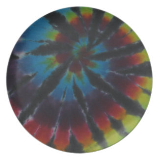 Tiefe Farbspirale-Strudel-gefärbte Krawatte Teller