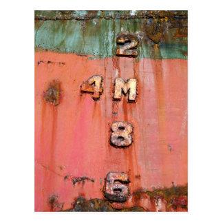Tiefenmarkierungen auf Schiffbruch Postkarte
