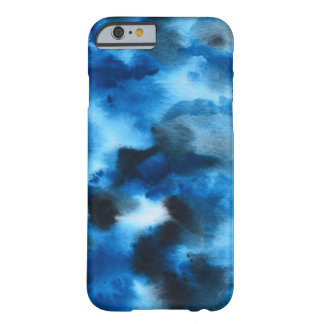 Tiefer blauer MarmorAquarell-Telefon-Kasten Barely There iPhone 6 Hülle