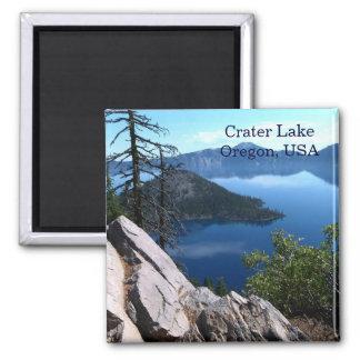 Tiefer blauer Reise-Magnet Crater See-Oregons USA Quadratischer Magnet