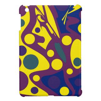 Tiefer blauer und gelber Dekor Hülle Für iPad Mini