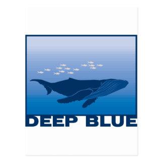 Tiefer Blauwal Postkarte