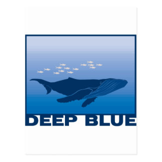 Tiefer Blauwal Postkarten