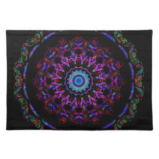 Tiefer Schatten des lila Mandala Tischset