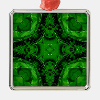 Tiefer Smaragdgrün-kreuzförmiger Entwurf Silbernes Ornament