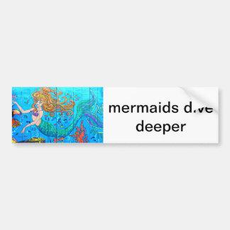 tieferer Aufkleber des Meerjungfrautauchens Autoaufkleber