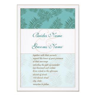 Tiefes Aqua-Blau und Brown-Blätter, das Einladung