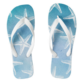 Tiefes Blau dreht Reinfälle - WatercolorStarfish Flip Flops