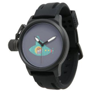 Tiefes blaues Meer Armbanduhr