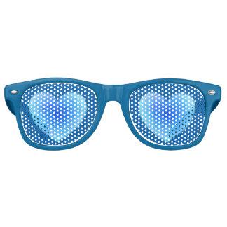 Tiefes blaues Wasser-Herz - Liebe in den Schatten Retro Sonnenbrillen
