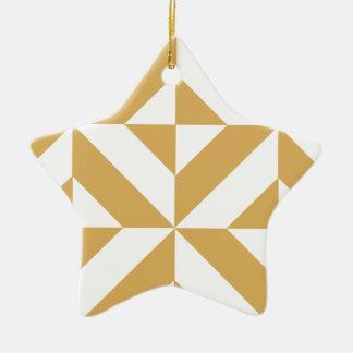 Tiefes cooles Goldgeometrisches Deko-Würfel-Muster Keramik Ornament