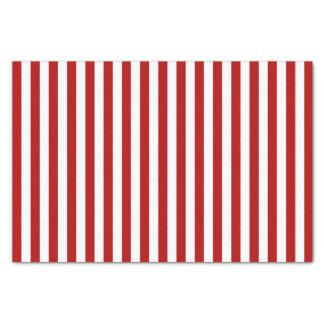 Tiefes dunkelrotes und Weiß Stripes | DIY Seidenpapier
