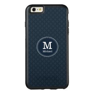 Tiefes klassisches Marine-Gewohnheits-Monogramm OtterBox iPhone 6/6s Plus Hülle
