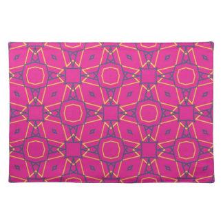 Tiefes pink2 stofftischset