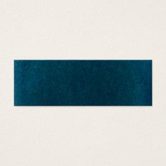 Tiefes SeeWatercolor - dunkles aquamarines Blau Mini-Visitenkarten