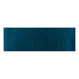 Tiefes SeeWatercolor - dunkles aquamarines Blau un Visitenkartenvorlage