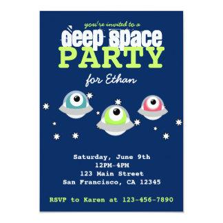 Tiefes Weltraum-Geburtstags-Party des niedlichen 12,7 X 17,8 Cm Einladungskarte