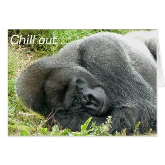Tiefland-Gorilla kühlen heraus Grußkarte