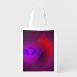 Tiefpurpurne einfache abstrakte Kunst Einkaufstasche