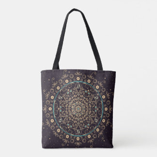 Tiefpurpurne Himmel-Mandala-Tasche Tasche