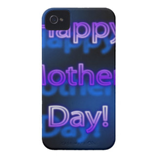 Tiefpurpurner glücklicher Entwurf der Mutter Tages iPhone 4 Hüllen