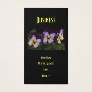 Tiefpurpurnes weißes Stiefmütterchen Visitenkarte
